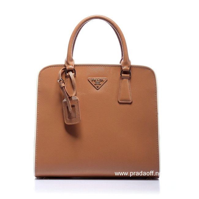 2012 Cheap Prada Saffiano Leather Handbag Apricot