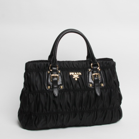 Free Gift for order amount over 600AUD-Prada Gaufre Nylon Tessuto Handbag Black