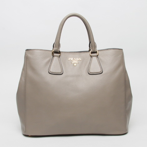 2013 New Prada Grained Calf Leather Tote BN2423 in Grey