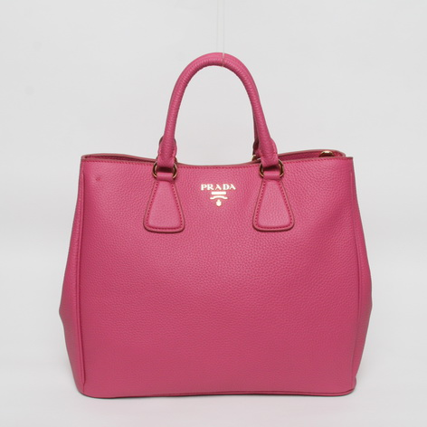 2013 New Prada Grained Calf Leather Tote BN2423 in Rose