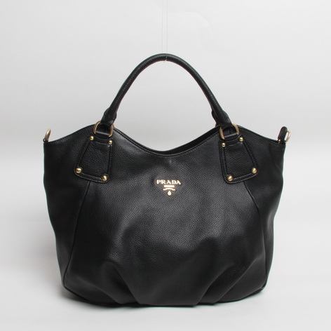 Prada Leather Tote Bag BR3675 in Black