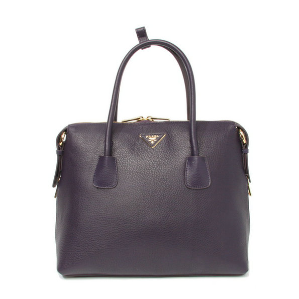 2014 New Prada Vitello Daino Bauletto Tote Bag BL0890 in Purple