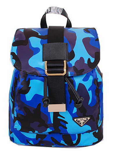 2014 New Prada Multicolor Nylon Backpack BZ1562