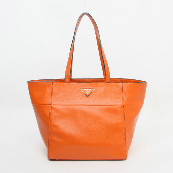 2014 Latest Prada Calf Leather Tote Bag BR5090 in Papaya