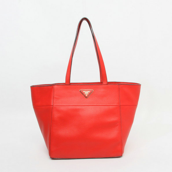 2014 Latest Prada Calf Leather Tote Bag BR5090 in Red