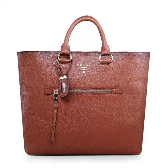 2014 Autumn/Winter Prada Vitella Daino Tote BN2754 in Brown