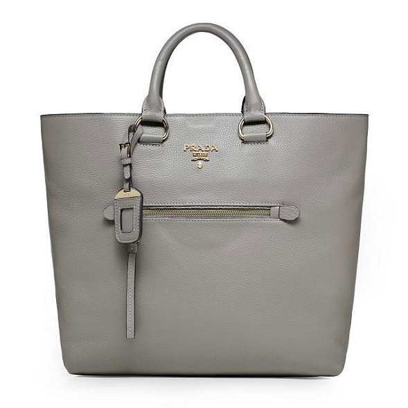 2014 Autumn/Winter Prada Vitella Daino Tote BN2754 in Grey