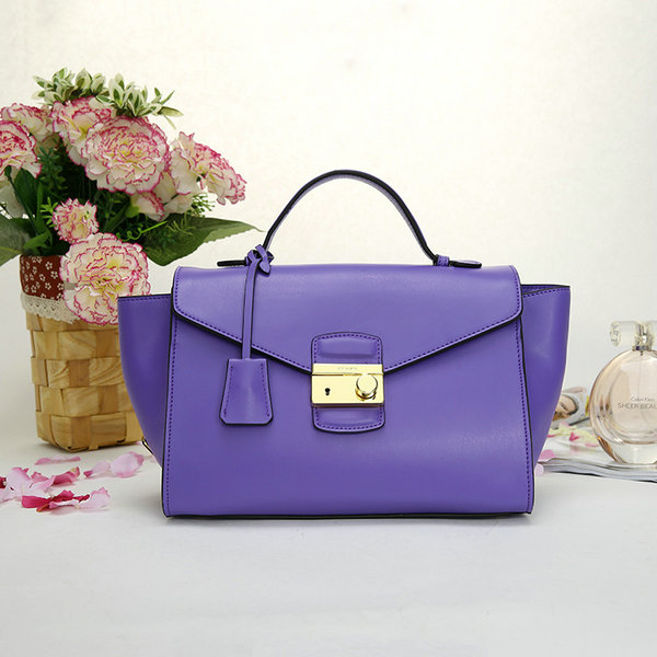 2014 New Prada Calf Leather Flap Bag 2633B in Light Purple