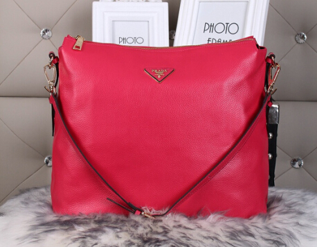 2014 Autumn/Winter Prada Vitello Daino Shoulder Bag in Peony Pink