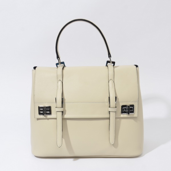 2014 Fall/Winter Prada Calf Leather Flap Briefcase BN2789 in Beige
