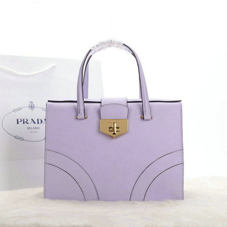 2014 Latest Prada Medium Saffiano Leather Flap Bag B2725M in Lavender