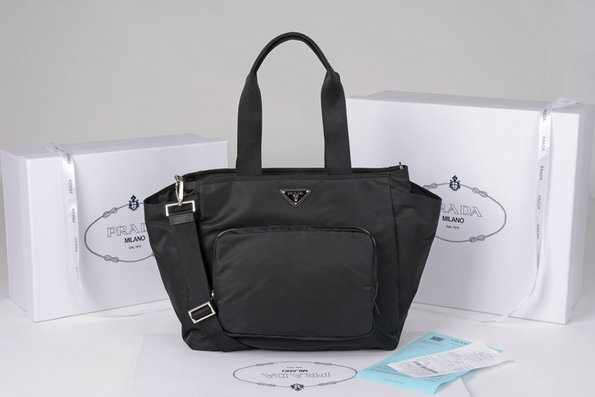 2014 New Prada Nylon Diaper Bag BR4102 in Black