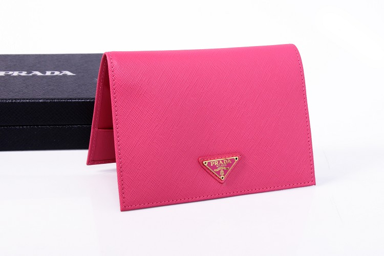 2014 New Prada Saffiano Passport Cover 2ARD61 in Peach
