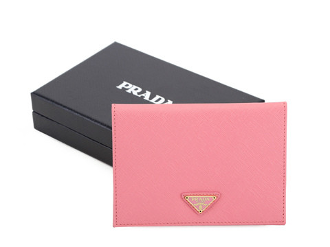 2014 New Prada Saffiano Passport Cover 2ARD61 in Pink
