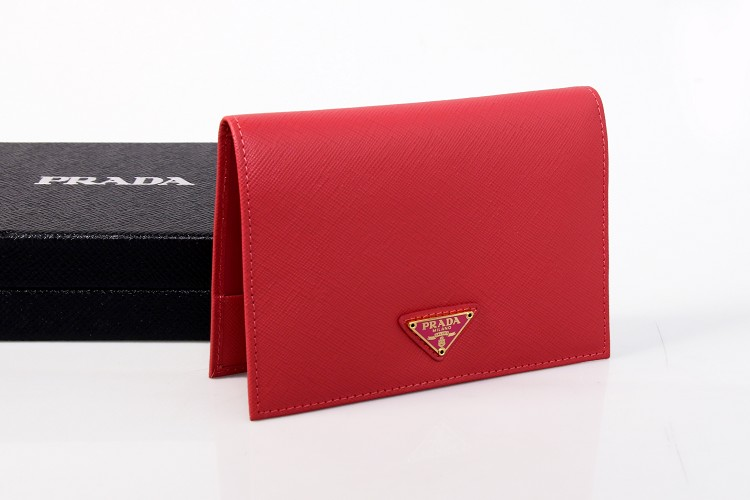 2014 New Prada Saffiano Passport Cover 2ARD61 in Peony Pink
