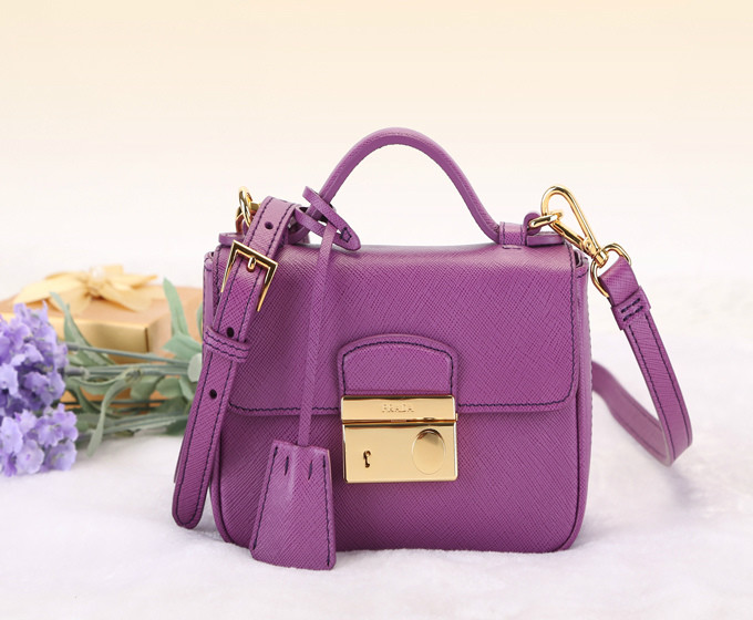 2014 Latest Prada Saffiano Leather Mini Bag BT0963 in Purple