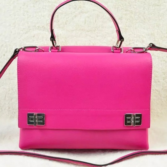 2014 Fall/Winter Prada Lux Calf Double Satchel BN2796 in Rose