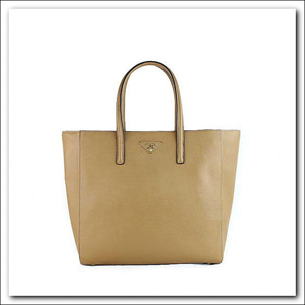 2014 Latest Prada Soft Saffiano Leather Tote BN2666 in Caramel