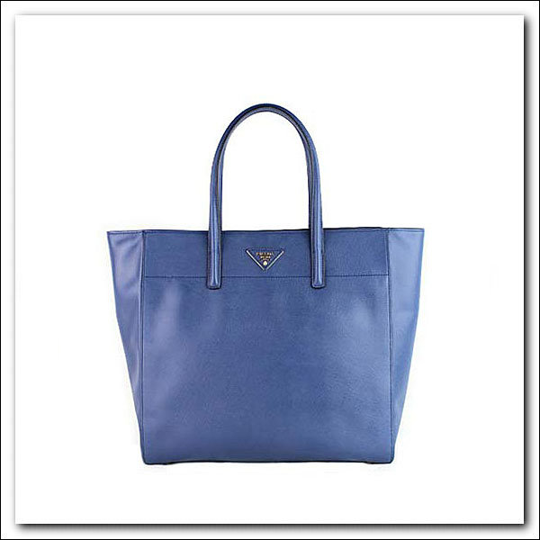 2014 Latest Prada Soft Saffiano Leather Tote BN2666 in Blue