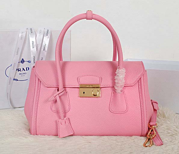 New Prada Handbags 2014-Prada Vitello Daino Tote BN0886 in Pink