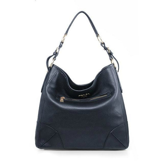 2014 Fall/Winter Prada Vitello Daino Leather Shoulder Bag BR4893 in Black