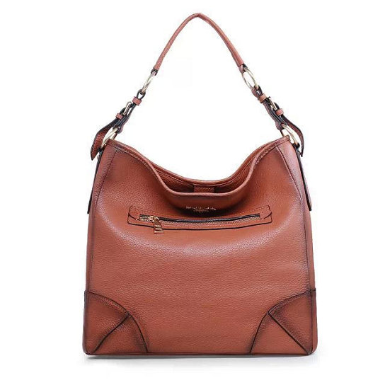 2014 Fall/Winter Prada Vitello Daino Leather Shoulder Bag BR4893 in Camel