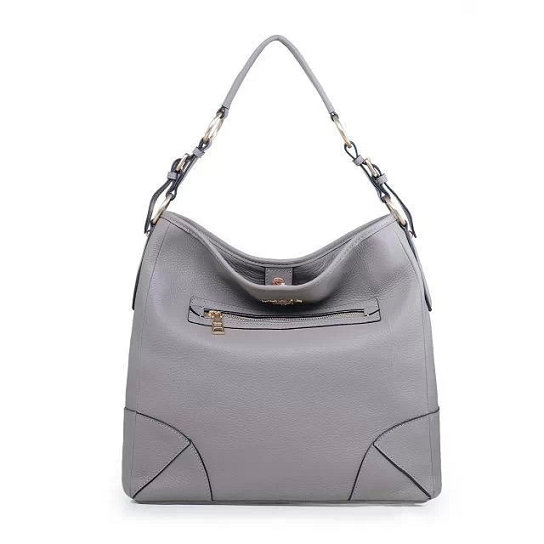 2014 Fall/Winter Prada Vitello Daino Leather Shoulder Bag BR4893 in Grey