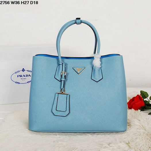 80b7c83ec913 ... and colorful nappa leather lining ac117 8ecbb; best price 2014 new  spring summer bag prada saffiano cuir double tote bag bn2756 in light