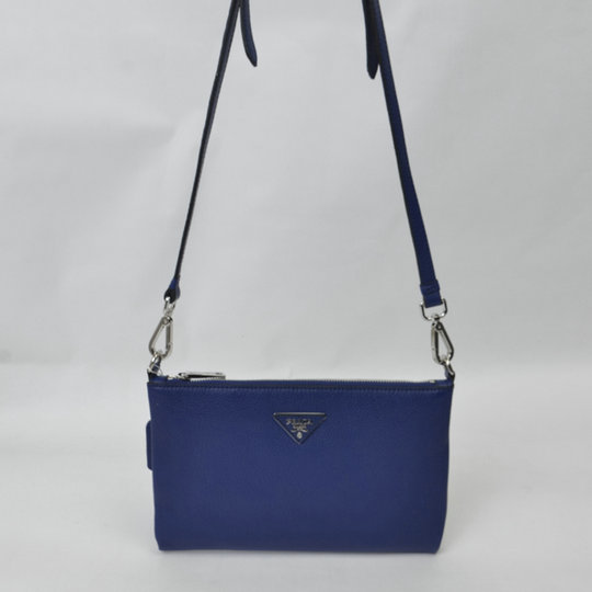 2015 Cheap Prada Grainy Calf Leather Shoulder Bag BT0997 in Cornflower Blue