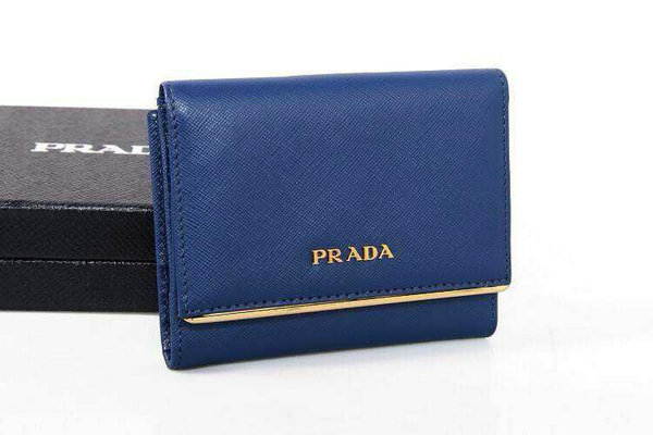 2015 Prada Compact Saffiano Wallet 1M0523 with Metal Bar Detail