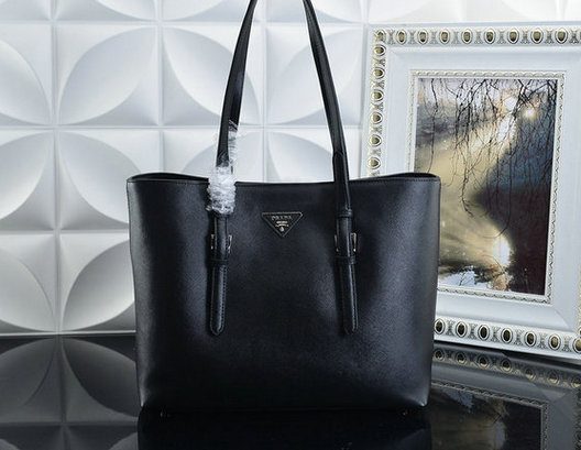 2015 F/W Prada Saffiano Leather Tote Bag BR5133 in Black