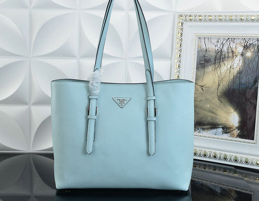 2015 F/W Prada Saffiano Leather Tote Bag BR5133 in Ice Blue