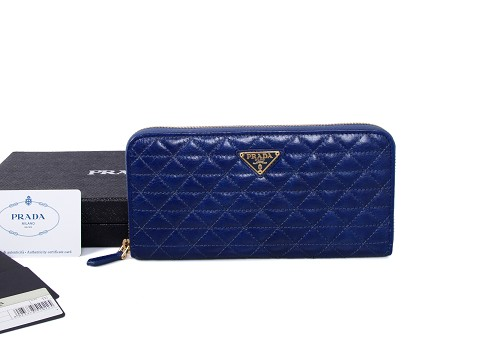 2015 Fall/Winter Prada Shiny Calf Leather Wallet 1M0506B for Women