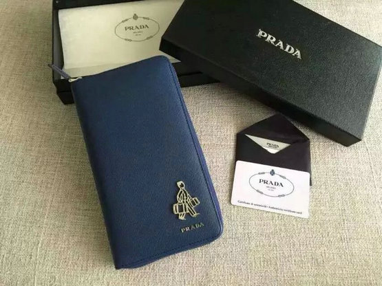 "-2015 Men's Prada Saffiano Document Holder Cornflower Blue with ""Porter"" Metal Detail"