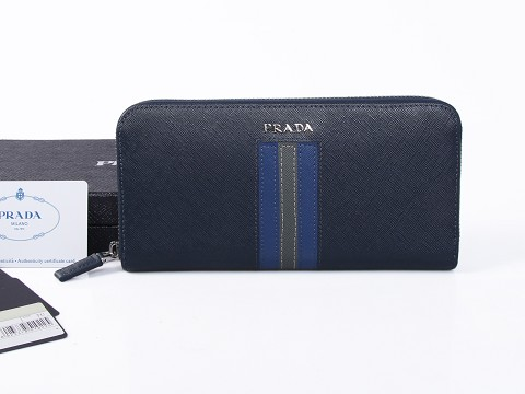 2015 Mens Prada Saffiano Leather Document Holder with Intarsia Detail in a Contrasting Color
