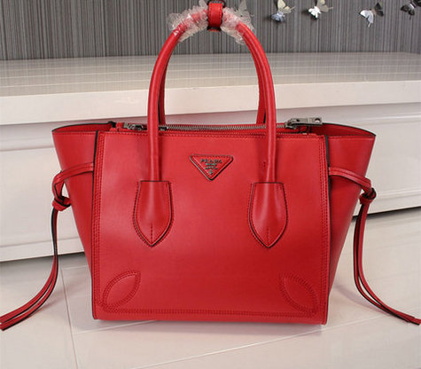 2015 Cheap Prada City Sport Leather Tote Bag Red