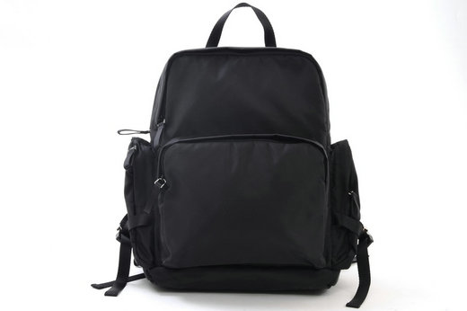 2015 Prada Mens Technical Fabric Backpack VZ0052 Black