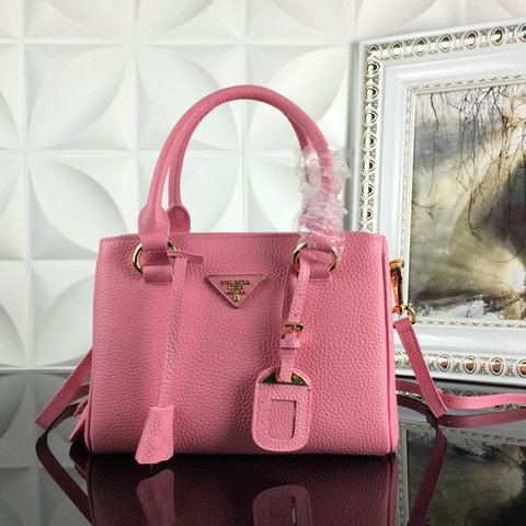 2015 A/W Prada Grainy Leather Tote BN2963 in Pink