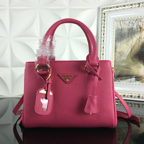 2015 A/W Prada Grainy Leather Tote BN2963 in Peony Pink