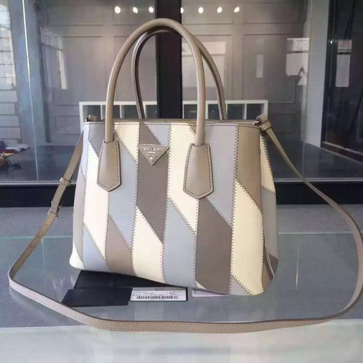 2015 Autumn/Winter Prada Patchwork Double Handle Tote B2887P