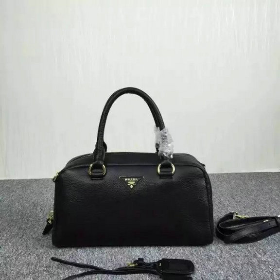 2015 Cheap Prada Grainy Calf Leather Top Handle Bag Black