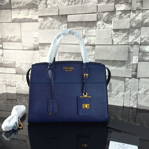 2016 A/W Prada Esplanade Soft Calf Leather Tote Bag in Royalblue