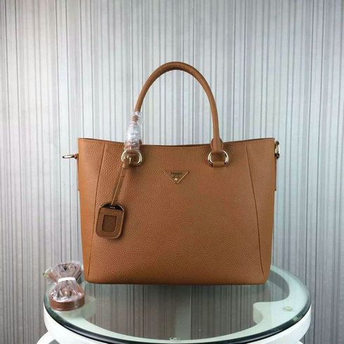2016 Cheap Prada Daino Calf Leather Tote BR2969 in Camel