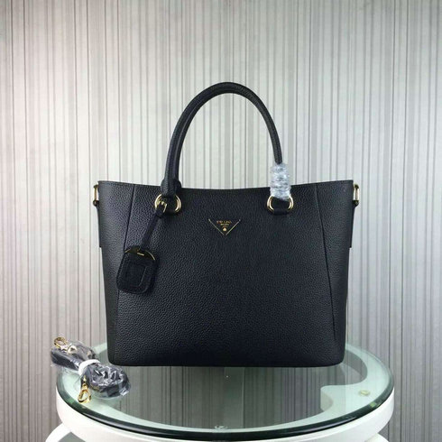 2016 Cheap Prada Daino Calf Leather Tote BR2969 in Black