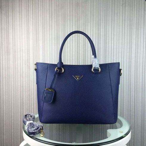 2016 Cheap Prada Daino Calf Leather Tote BR2969 in Blue
