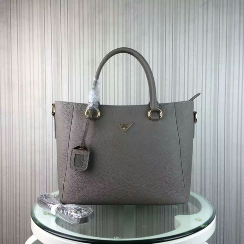 2016 Cheap Prada Daino Calf Leather Tote BR2969 in Grey