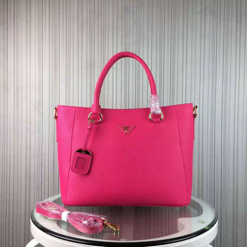 2016 Cheap Prada Daino Calf Leather Tote BR2969 in Peony Pink
