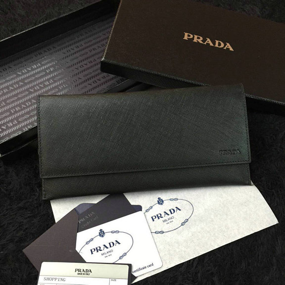 2016 Cheap Prada Black Saffiano Leather Document Holder 2M1340 for Men