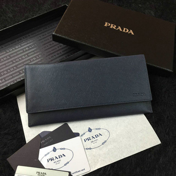 2016 Cheap Prada Baltic Blue Saffiano Leather Document Holder 2M1340 for Men