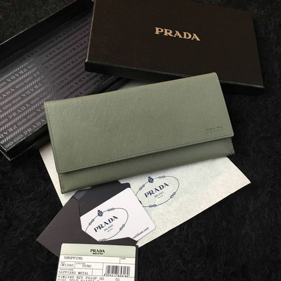 2016 Cheap Prada Grey Saffiano Leather Document Holder 2M1340 for Men